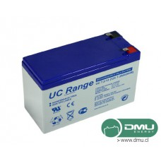 Batería 12V 7.2Ah Ciclo Profundo GEL (eq. AGM) Term. F2 UCG7.2-12 Ultracell (Form. 12V 7A)