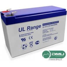Batería 12V 9Ah Ciclo Profundo GEL (eq. AGM) Term. F2 UCG9-12 / UL9-12 Ultracell