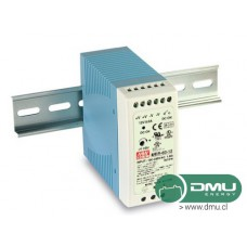 Fuente de poder 220V AC a 24V DC 2.5A 60W (para riel DIN) MDR-60-24 Mean Well